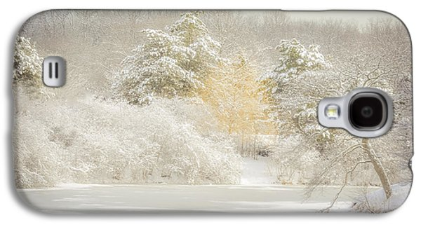 Snow-covered Landscape Digital Art Galaxy S4 Cases - Natures Winter Landscape Galaxy S4 Case by Julie Palencia