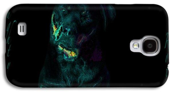 Chocolate Lab Digital Art Galaxy S4 Cases - Naughty Rottie Galaxy S4 Case by Mayhem Mediums