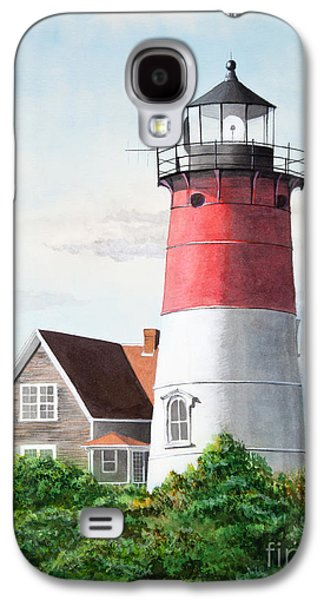 Cape Cod Paintings Galaxy S4 Cases - Nauset Beach Memories Watercolor Painting Galaxy S4 Case by Michelle Wiarda