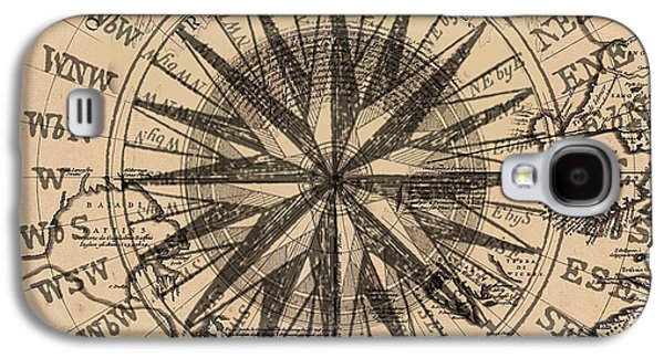 Chart Paintings Galaxy S4 Cases - Nautical II Galaxy S4 Case by James Christopher Hill