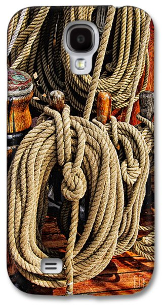 Maine Bounty Galaxy S4 Cases - Nautical Knots 16 Galaxy S4 Case by Mark Myhaver