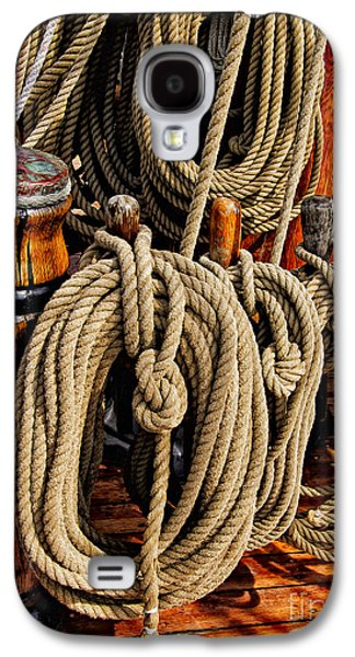Maine Bounty Galaxy S4 Cases - Nautical Knots 17 Oil Galaxy S4 Case by Mark Myhaver