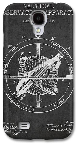 Compass Galaxy S4 Cases - Nautical Observation Apparatus Patent From 1895 - Dark Galaxy S4 Case by Aged Pixel