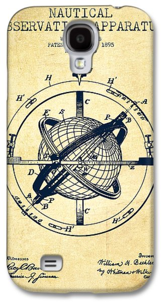 Compass Galaxy S4 Cases - Nautical Observation Apparatus Patent From 1895 - Vintage Galaxy S4 Case by Aged Pixel