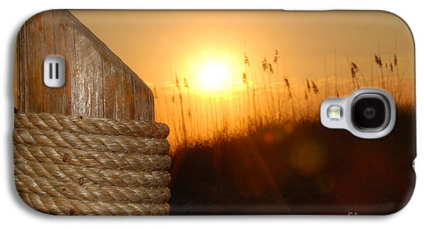 Weed Line Galaxy S4 Cases - Nautical Rope Sunset Galaxy S4 Case by Jt PhotoDesign