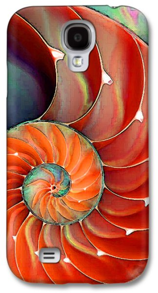 Colorful Abstract Galaxy S4 Cases - Nautilus Shell - Natures Perfection Galaxy S4 Case by Sharon Cummings