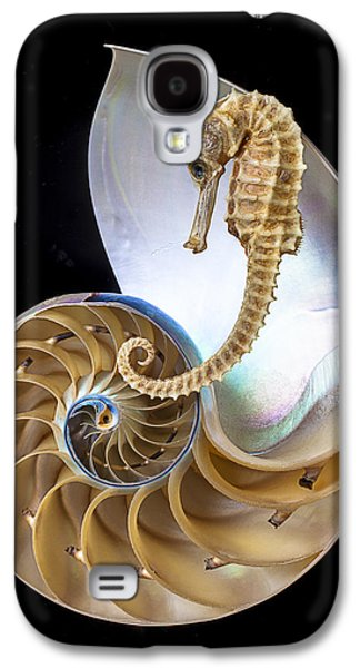 Nautilus With Seahorse Galaxy S4 Case by Garry Gay