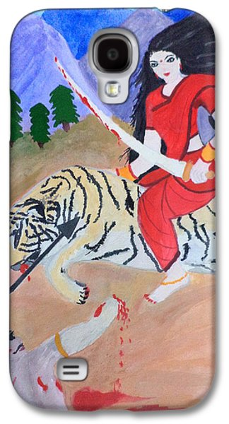Goddess Durga Galaxy S4 Cases - Nava Durga Kaatyayani Galaxy S4 Case by Pratyasha Nithin
