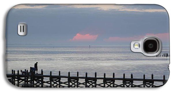 Waterscape Galaxy S4 Cases - Navarre Beach Sunset Pier 15 Galaxy S4 Case by Michelle Powell
