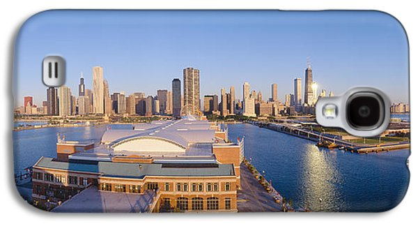 Navy Pier, Chicago, Morning, Illinois Galaxy S4 Case by Panoramic Images