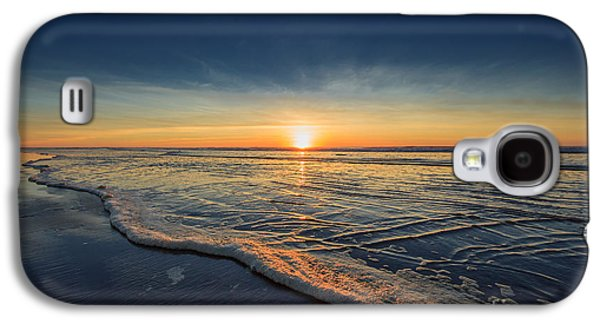 Sunset Galaxy S4 Cases - Navy Sunset Galaxy S4 Case by Lucid Mood