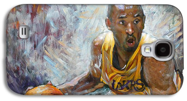 Nba Paintings Galaxy S4 Cases - NBA Lakers Kobe Black Mamba Galaxy S4 Case by Ylli Haruni