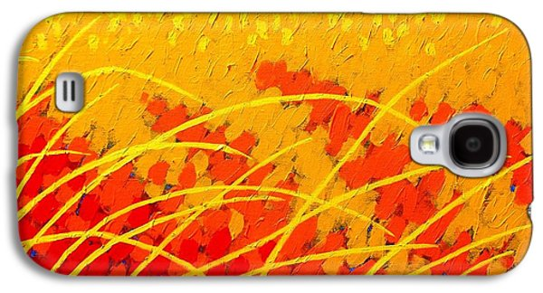 Landscape Acrylic Prints Paintings Galaxy S4 Cases - Near Carcassonne  Galaxy S4 Case by John  Nolan
