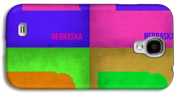 Nebraska. Galaxy S4 Cases - Nebraska Pop Art Map 1 Galaxy S4 Case by Naxart Studio