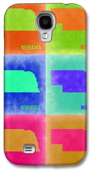Nebraska. Galaxy S4 Cases - Nebraska Pop Art Map 2 Galaxy S4 Case by Naxart Studio