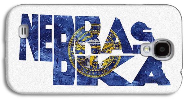 Nebraska. Galaxy S4 Cases - Nebraska Typographic Map Flag Galaxy S4 Case by Ayse Deniz