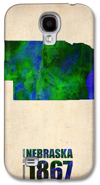 Nebraska. Galaxy S4 Cases - Nebraska Watercolor Map Galaxy S4 Case by Naxart Studio