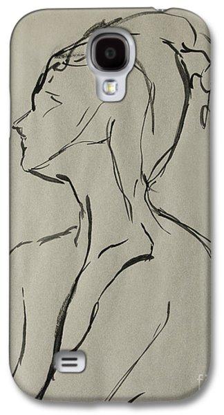 Indian Ink Galaxy S4 Cases - Neckline Galaxy S4 Case by Peter Piatt