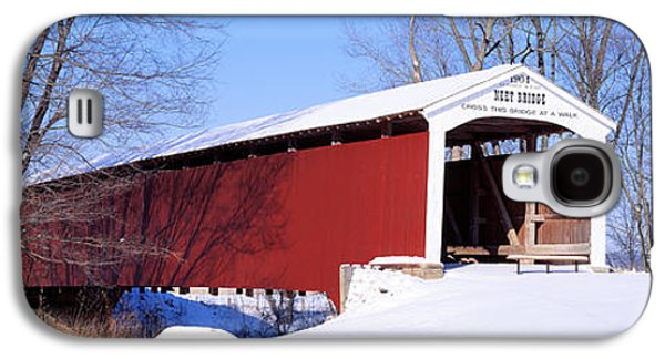 Indiana Winters Galaxy S4 Cases - Neet Covered Bridge Parke Co In Usa Galaxy S4 Case by Panoramic Images