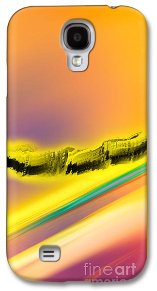 Abstract Digital Drawings Galaxy S4 Cases - Negative Dawn - Panel I Galaxy S4 Case by Paul Davenport