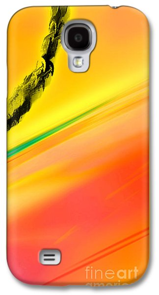 Abstract Digital Drawings Galaxy S4 Cases - Negative Dawn - Panel II Galaxy S4 Case by Paul Davenport