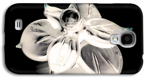 Studio Glass Art Galaxy S4 Cases - Negative glass flower Galaxy S4 Case by Anne Londez