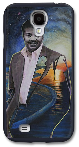 Cosmos Paintings Galaxy S4 Cases - Neil deGrasse Tyson- Shore of the Cosmic Ocean Galaxy S4 Case by Simon Kregar