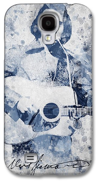 Famous Artist Galaxy S4 Cases - Neil Diamond Portrait Galaxy S4 Case by Aged Pixel