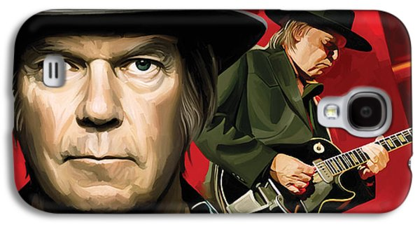 Neil Young Artwork Galaxy S4 Case by Sheraz A