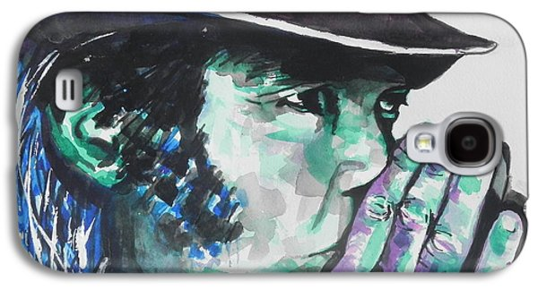 Neil Young Paintings Galaxy S4 Cases - Neil Young Galaxy S4 Case by Chrisann Ellis