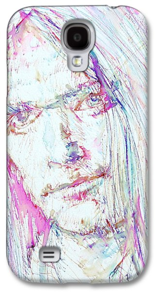 Neil Young - Colored Pens Portrait Galaxy S4 Case by Fabrizio Cassetta