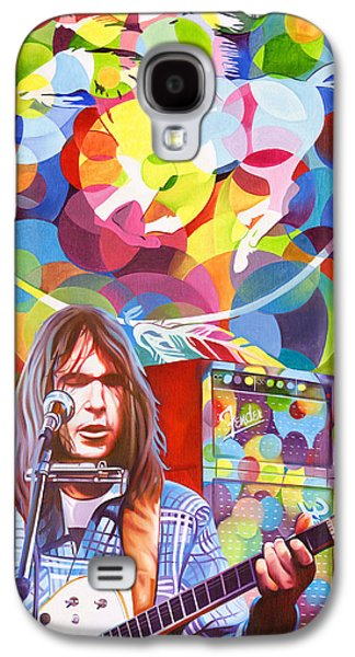 Neil Young Paintings Galaxy S4 Cases - Neil Young-Crazy Horse Galaxy S4 Case by Joshua Morton