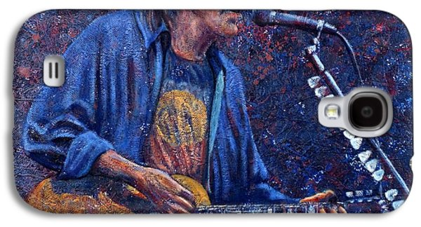 Neil Young Paintings Galaxy S4 Cases - Neil Young Galaxy S4 Case by John Cruse Knotts