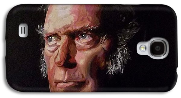 Neil Young Paintings Galaxy S4 Cases - Neil Young OLD MAN Galaxy S4 Case by Gordon Irving