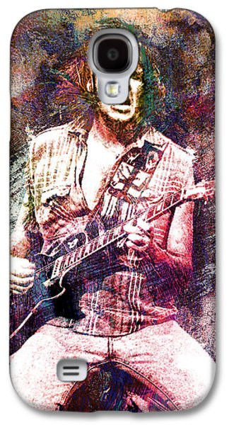 Neil Young Galaxy S4 Cases - Neil Young Original Painting Print Galaxy S4 Case by Ryan RockChromatic