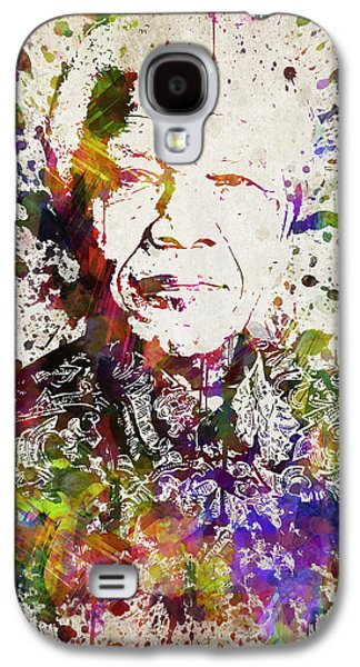 Nelson Mandela In Color Galaxy S4 Case by Aged Pixel