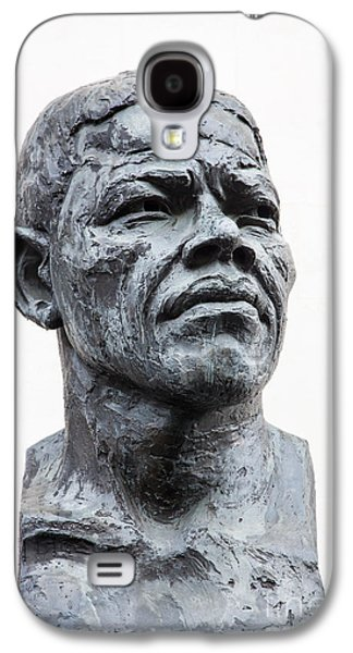 Statue Portrait Galaxy S4 Cases - Nelson Mandela statue Galaxy S4 Case by Jane Rix