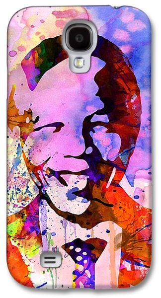 Civil Rights Galaxy S4 Cases - Nelson Mandela Watercolor Galaxy S4 Case by Naxart Studio