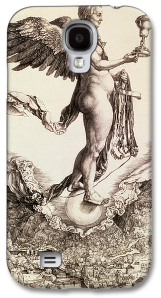 Angels Drawings Galaxy S4 Cases - Nemesis Galaxy S4 Case by Albrecht Durer