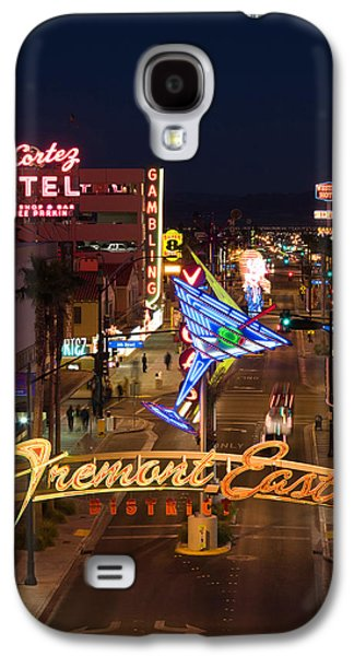 The Strip Galaxy S4 Cases - Neon Casino Signs Lit Up At Dusk, El Galaxy S4 Case by Panoramic Images
