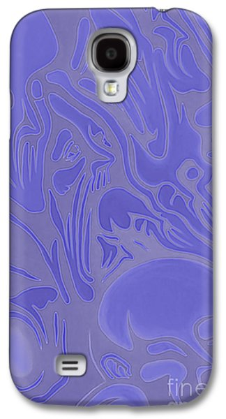 Recently Sold -  - Abstract Digital Paintings Galaxy S4 Cases - Neon Intensity Galaxy S4 Case by Michael  TMAD Finney
