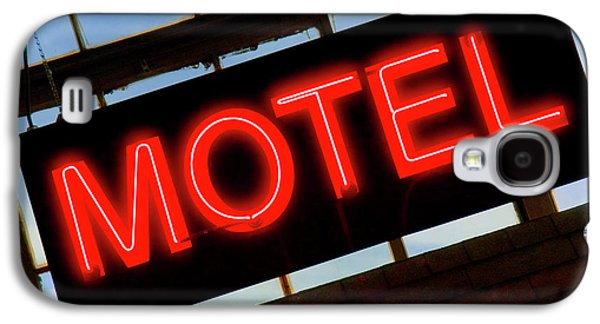 Signed Digital Art Galaxy S4 Cases - Neon Motel Sign Galaxy S4 Case by Mike McGlothlen