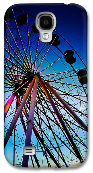 Original Art Photographs Galaxy S4 Cases - Neon Nights - Ferris Wheel Galaxy S4 Case by Colleen Kammerer