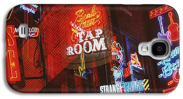 Tn Galaxy S4 Cases - Neon Signs, Beale Street, Memphis Galaxy S4 Case by Panoramic Images