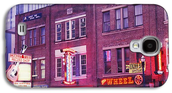 Neon Signs On Buildings, Nashville Galaxy S4 Case by Panoramic Images