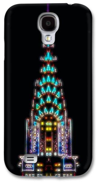 Skylines Digital Art Galaxy S4 Cases - Neon Spires Galaxy S4 Case by Az Jackson