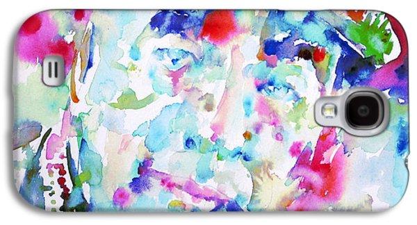Pablo Galaxy S4 Cases - PABLO NERUDA - watercolor portrait.2 Galaxy S4 Case by Fabrizio Cassetta