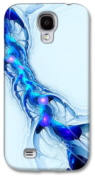 Best Sellers -  - Abstract Digital Mixed Media Galaxy S4 Cases - Neural Channel Galaxy S4 Case by Anastasiya Malakhova