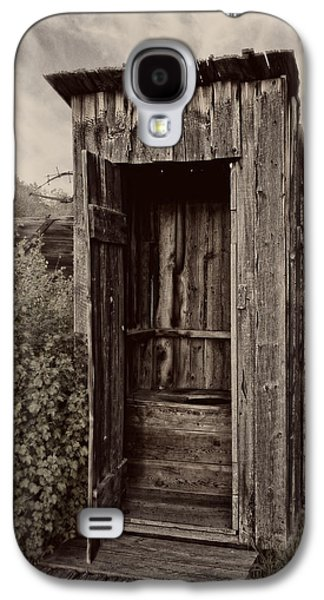 Shed Galaxy S4 Cases - Nevada City Ghost Town Outhouse - Montana Galaxy S4 Case by Daniel Hagerman