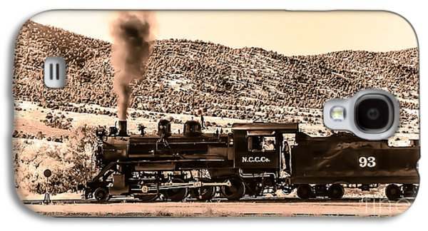 Haybale Photographs Galaxy S4 Cases - Nevada Northern Railway Galaxy S4 Case by Robert Bales